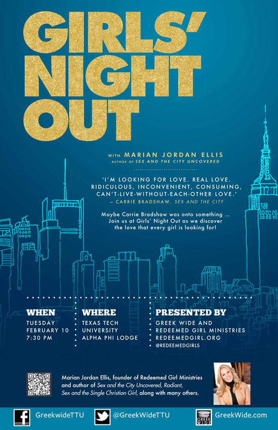 Girls Night Out, Sponsored by Greek Wide Student Ministries